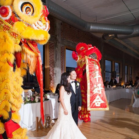 wedding lion dance