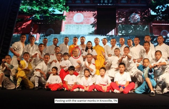 pose with the shaolin casts